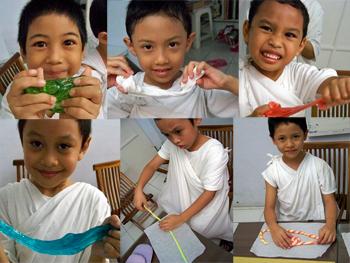 Anak-anak suka membuat permen sendiri