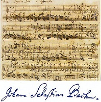 Partitur: Minuet by Bach