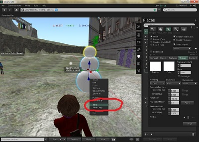 Membuat Benda di SecondLife