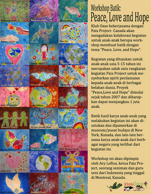 "Workshop Batik ""Peace, Love, and Hope"""