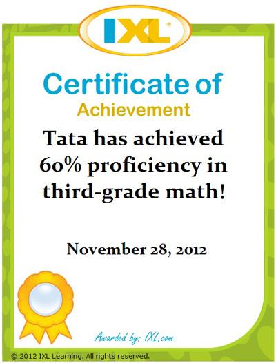 Tata: 60% IXL Math Kelas 3
