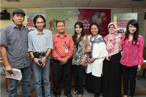 Konferensi pers Festival Lagu Anak Nusantara