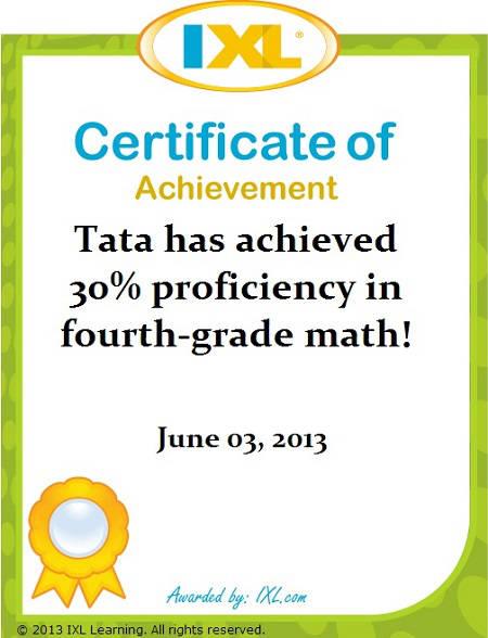 IXL Math Tata: 30% Kelas 4