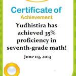 IXL Math Yudhis: 35% K-7