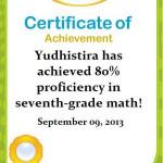 Matematika Yudhis: 80% Kelas 7