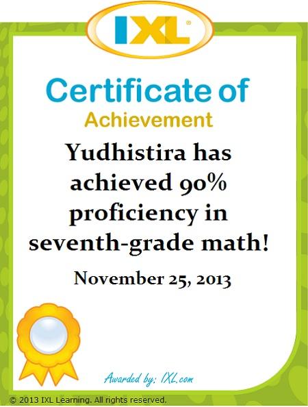 Yudhis: 90% Matematika Kelas 7