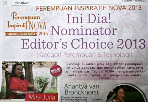 Nominator Perempuan Inspiratif Nova 2013