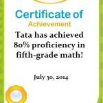Tata – 80% IXL Math Kelas 5