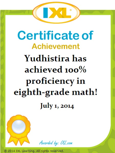 Yudhis-IXL-Math-K8-100-persen
