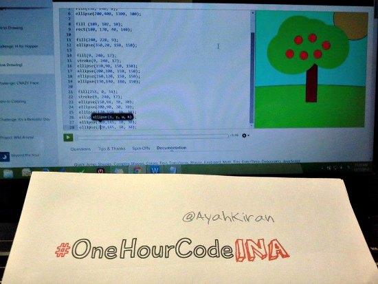 Catatan One hour code indonesia #OneHourCodeINA