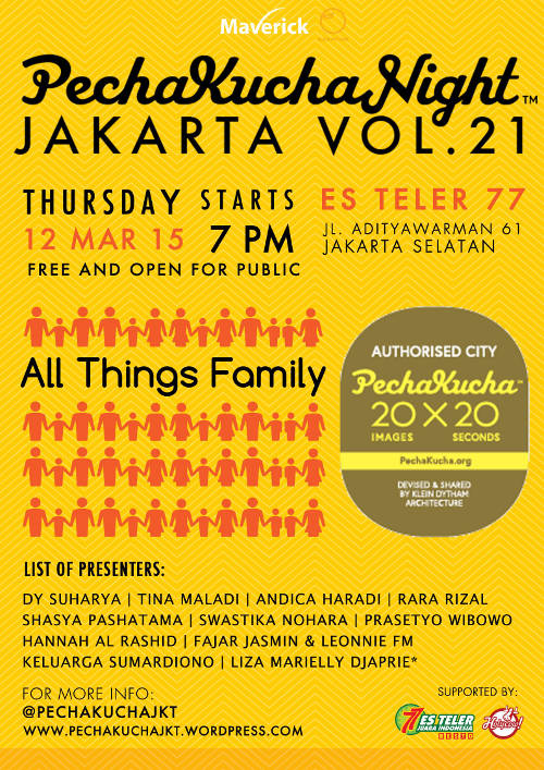 Cerita homeschooling di Pecha Kucha Night Jakarta Vol 21