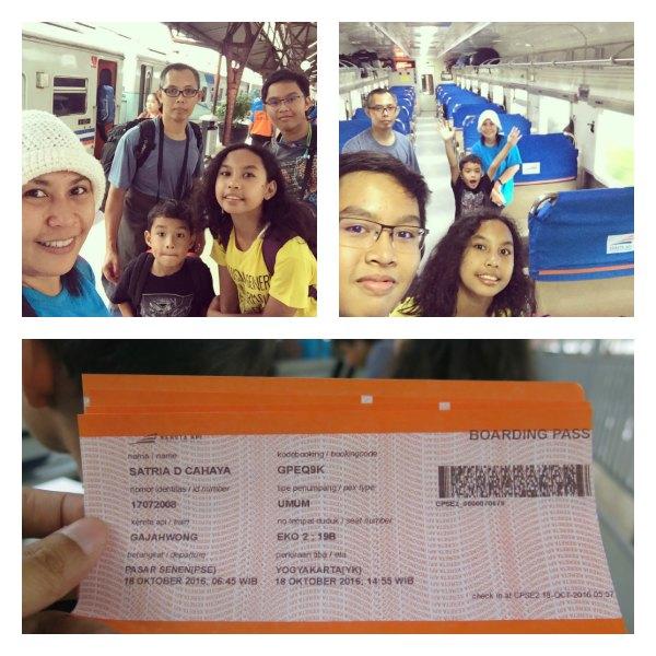 Petualangan Belajar #1: Kereta Gajah Wong menuju Yogyakarta