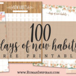 Free Printable: 100 Days of New Habits