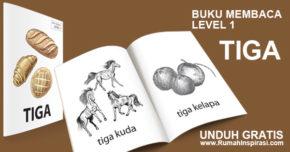 Buku Belajar Baca – Level 1 – TIGA