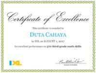 Duta Menyelesaikan Matematika IXL Math Kelas 3