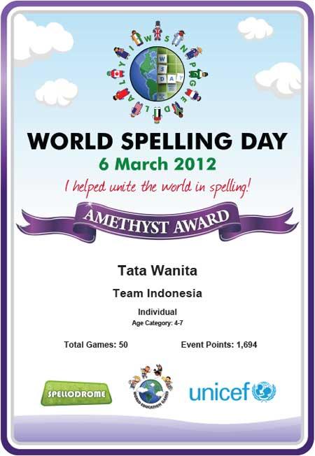 World Spelling Day