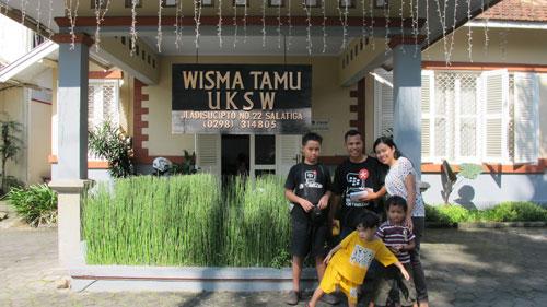 Wisma Tamu UKSW tempat kami menginap