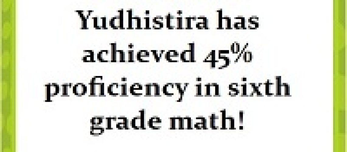 IXL Math Yudhis - 45% K6