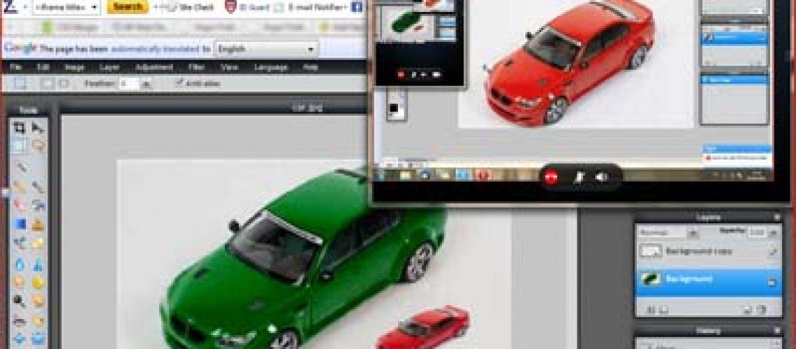 Belajar edit foto dengan screen-sharing